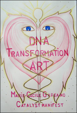 DNA Transformation Art by Marie-Cecile